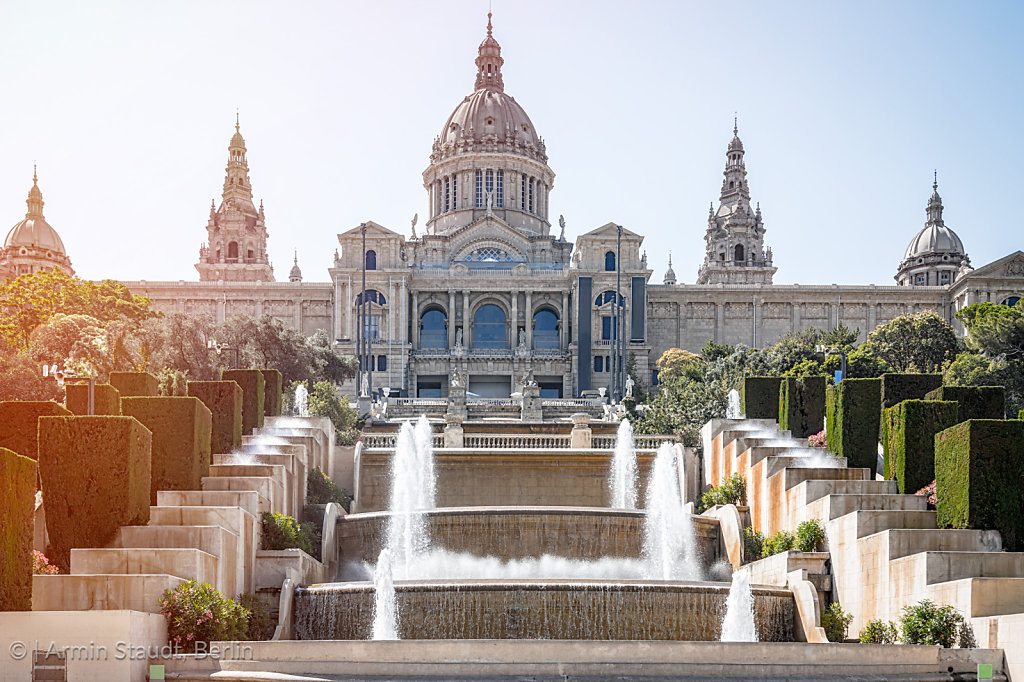 National Museum in Barcelona, Placa De Espanya, Palau Nacional, Spain