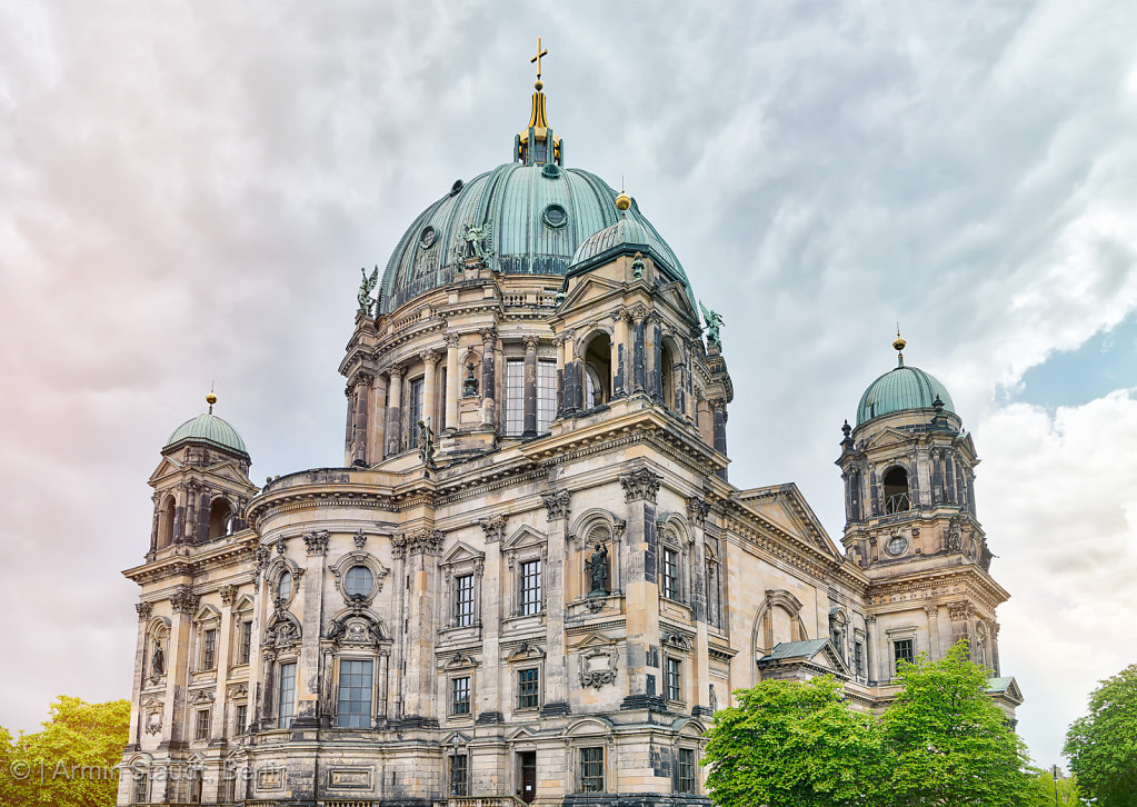 HDR shot of the Berliner Dom with trees