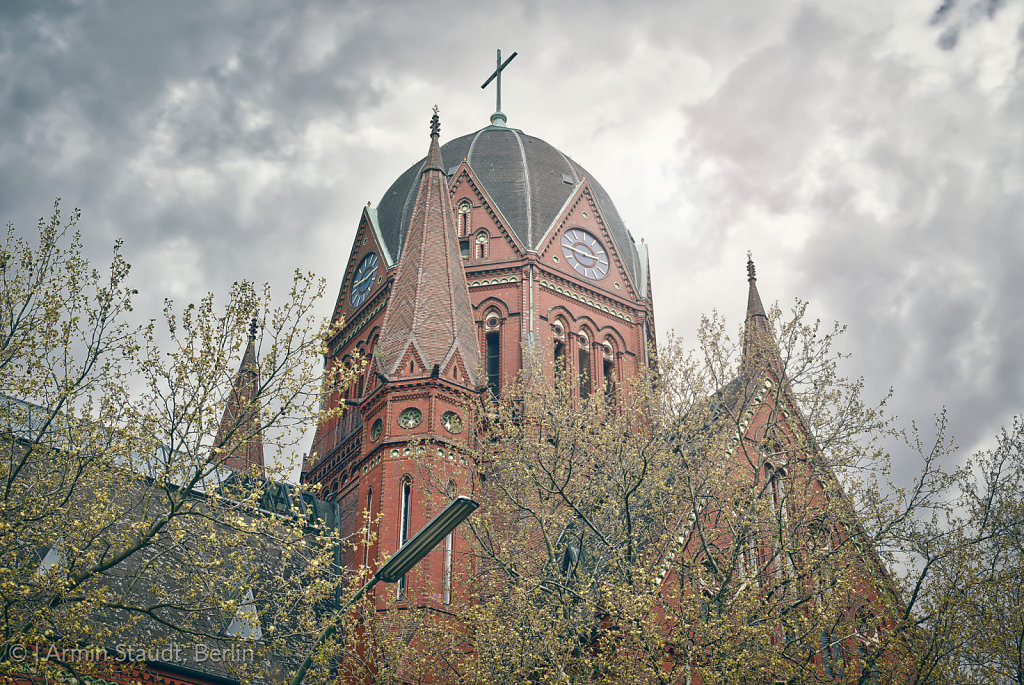 HDR shot of an old church in Berlin Kreuzberg