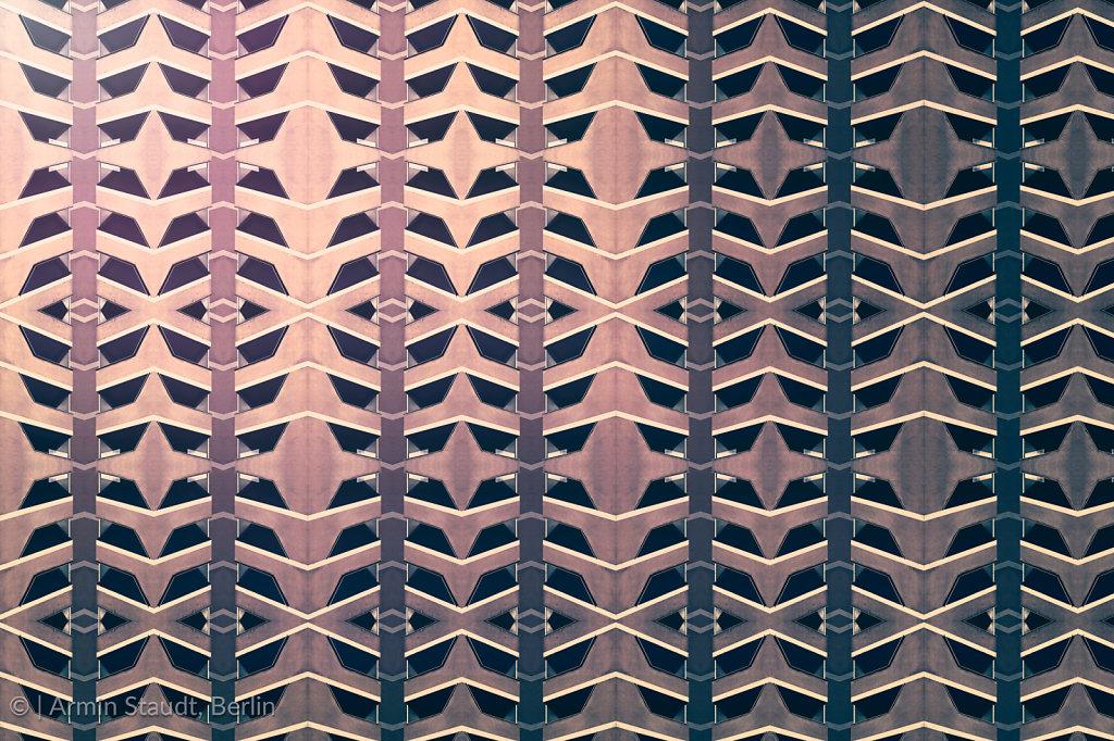 architectural pattern, symmetric texture of facade concrete elements