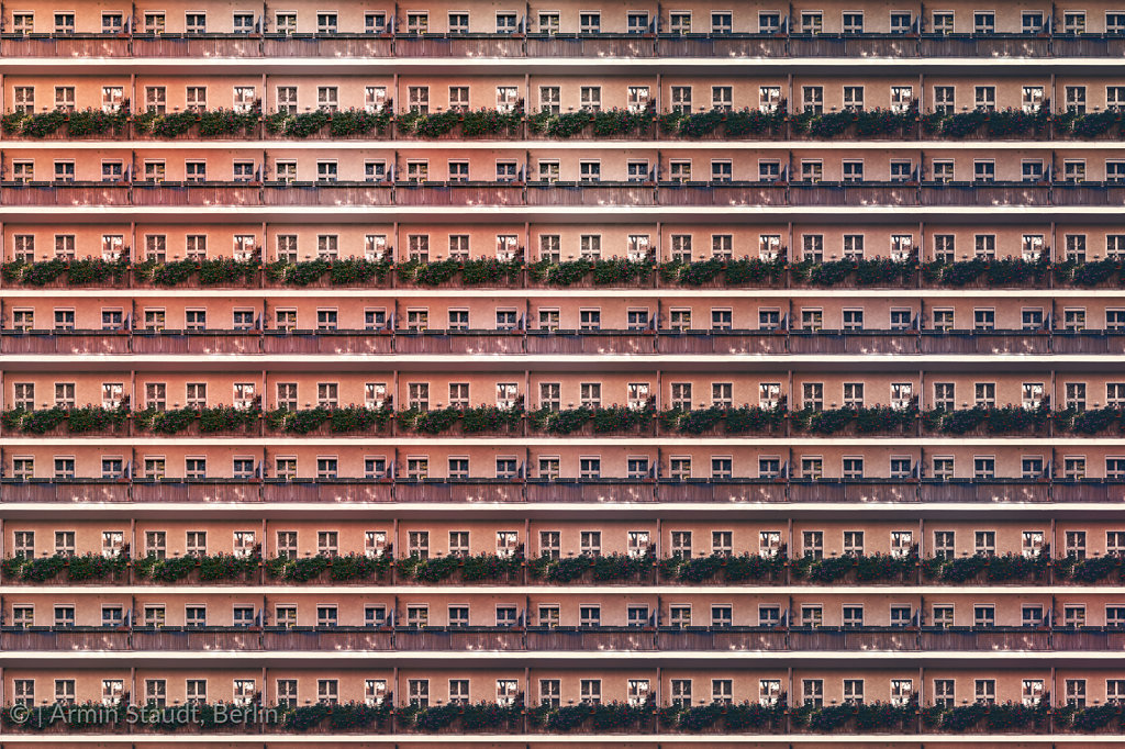 architectural pattern, balcony facade of an berlin house
